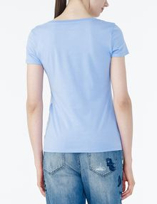 ARMANI EXCHANGE BICOLOR EMBROIDERED A|X TEE Logo Tee D r