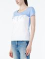 ARMANI EXCHANGE BICOLOR EMBROIDERED A|X TEE Logo T-shirt Woman d