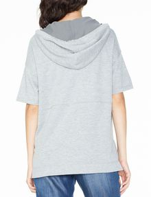 ARMANI EXCHANGE SHORT-SLEEVE TERRY HOODIE Fleece Top D r