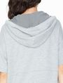 ARMANI EXCHANGE SHORT-SLEEVE TERRY HOODIE Fleece Top D e