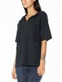 ARMANI EXCHANGE SHORT-SLEEVE TERRY HOODIE Fleece Top Woman d