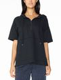 ARMANI EXCHANGE SHORT-SLEEVE TERRY HOODIE Fleece Top Woman f