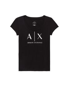ARMANI EXCHANGE CLASSIC AX SCOOP NECK TEE Logo-T-Shirt Damen b