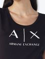 ARMANI EXCHANGE CLASSIC AX SCOOP NECK TEE Logo-T-Shirt Damen e