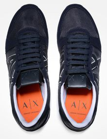 ARMANI EXCHANGE RETRO LOGO SNEAKERS Sneaker Homme d