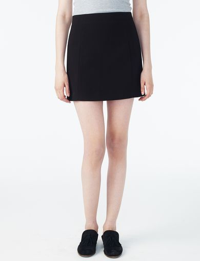 ARMANI EXCHANGE SUITING MINI SKIRT Woman front