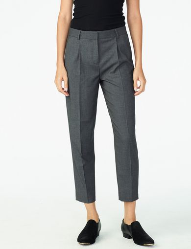 ARMANI EXCHANGE PLEATED SUITING TROUSER Woman front