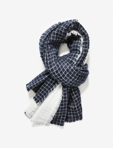 ARMANI EXCHANGE REVERSIBLE OVERSIZED WOVEN SCARF Woman front
