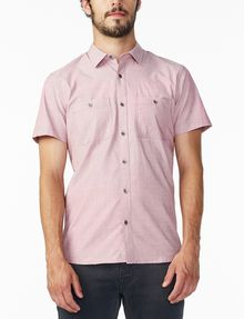ARMANI EXCHANGE SHORT-SLEEVE END-ON-END SHIRT Short sleeve shirt Man f