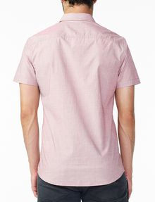 ARMANI EXCHANGE SHORT-SLEEVE END-ON-END SHIRT Short sleeve shirt Man r