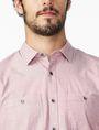 ARMANI EXCHANGE SHORT-SLEEVE END-ON-END SHIRT Short sleeve shirt Man e