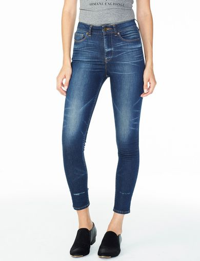 ARMANI EXCHANGE HIGH-RISE SUPER-SKINNY JEAN Woman front