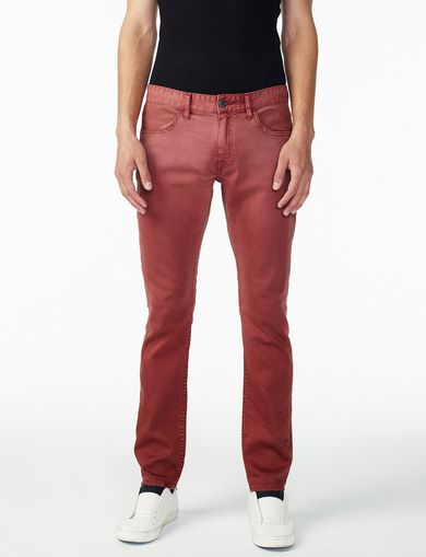 ARMANI EXCHANGE GARMENT-DYED SLIM JEAN Man front