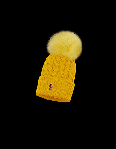 POMPOM BEANIE Ochre Category Hats Woman