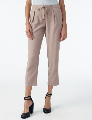ARMANI EXCHANGE PLEAT DRAWSTRING TROUSER Woman front