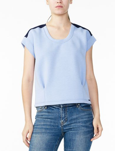 ARMANI EXCHANGE PIECED KNIT TOP Woman front