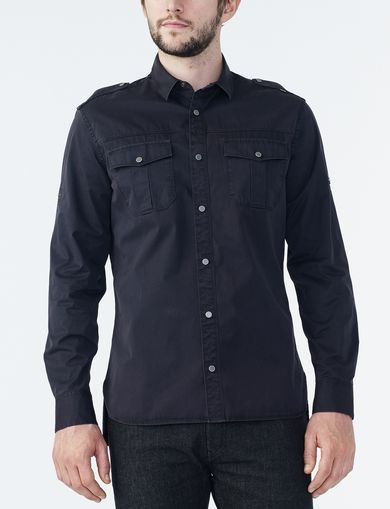 ARMANI EXCHANGE UTILITY POCKET SNAP SHIRT Man front