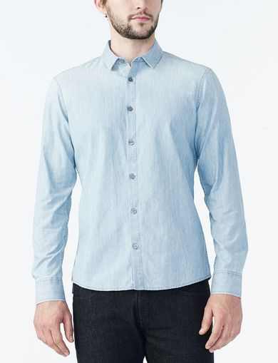 ARMANI EXCHANGE CHAMBRAY SHIRT Man front