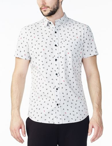 ARMANI EXCHANGE SHORT-SLEEVE A|X LETTERS SHIRT Man front