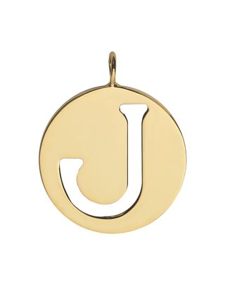J - Alphabet necklace pendant