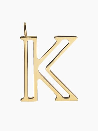K - Alphabet necklace pendant