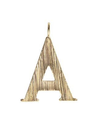 A - Alphabet necklace pendant