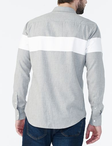 ARMANI EXCHANGE HEATHERED COLORBLOCK SHIRT Man retro