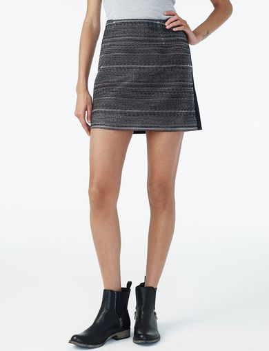 ARMANI EXCHANGE TWEED-FRONT MINI SKIRT Woman front