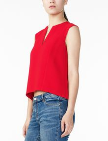 ARMANI EXCHANGE TEXTURED V-DETAIL SHELL S/L Woven Top D d