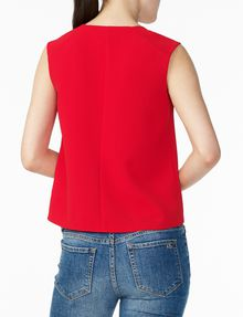 ARMANI EXCHANGE TEXTURED V-DETAIL SHELL S/L Woven Top D r
