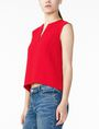 ARMANI EXCHANGE TEXTURED V-DETAIL SHELL S/L Woven Top Woman d