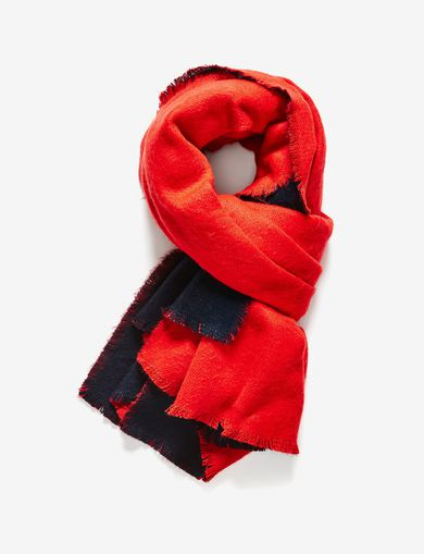 ARMANI EXCHANGE OVERSIZE REVERSIBLE WOVEN SCARF Woman front