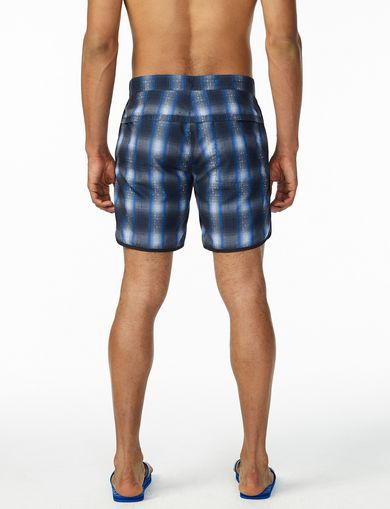 ARMANI EXCHANGE DIGITAL PLAID SWIM TRUNK Man retro