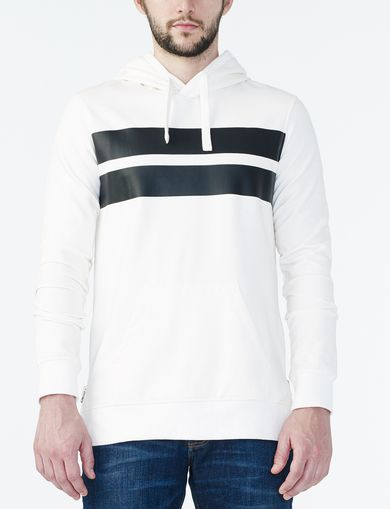 ARMANI EXCHANGE CONTRAST CHEST STRIPE HOODIE Man front