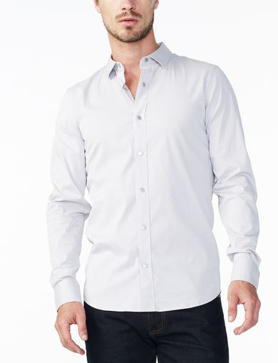 ARMANI EXCHANGE SLIM STRETCH SNAP SHIRT Man front