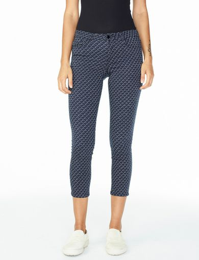 ARMANI EXCHANGE TESSELLATED SUPER SKINNY JEAN Woman front