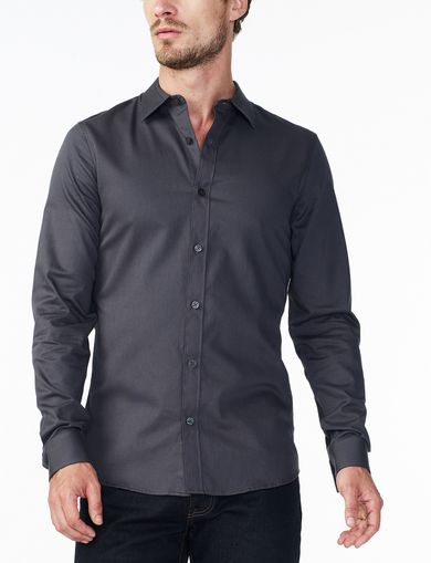ARMANI EXCHANGE SLIM TEXTURED NO-IRON SHIRT Man front