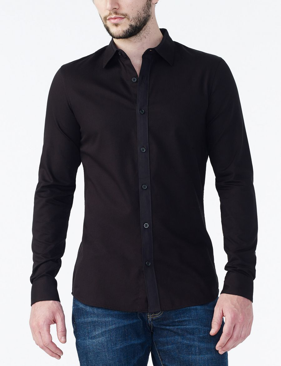 armani exchange non iron slim dress shirt long sleeve