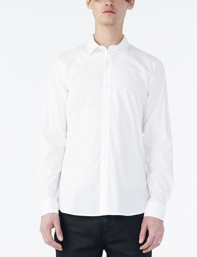ARMANI EXCHANGE SLIM STRETCH SOLID SHIRT Man front