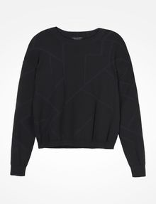 ARMANI EXCHANGE KNIT GRAPHIC DETAIL SWEATER Pullover D b
