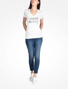 ARMANI EXCHANGE FOIL LOGO TEE Logo T-shirt Woman a