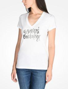 ARMANI EXCHANGE FOIL LOGO TEE Logo T-shirt Woman d