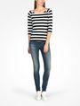 ARMANI EXCHANGE STRIPED BOATNECK TOP L/S Knit Top D a