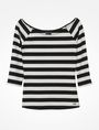 ARMANI EXCHANGE STRIPED BOATNECK TOP L/S Knit Top D b