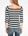 ARMANI EXCHANGE STRIPED BOATNECK TOP L/S Knit Top D r