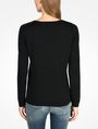 ARMANI EXCHANGE SHEER YOKE V-NECK SWEATER Pullover Woman r