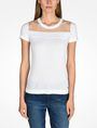 ARMANI EXCHANGE SHEER YOKE SHORT SLEEVE SWEATER Pullover D f