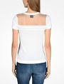 ARMANI EXCHANGE SHEER YOKE SHORT SLEEVE SWEATER Pullover D r