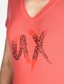 ARMANI EXCHANGE BEADED AX V-NECK TEE Logo Tee D e