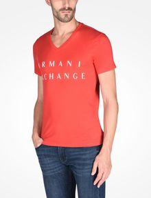 ARMANI EXCHANGE ARMANI EXCHANGE V-NECK T-SHIRT Logo T-shirt Man d